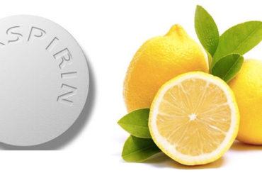 Aspirin and Lemon juice mask