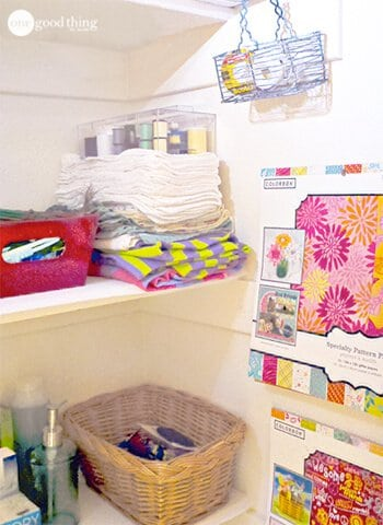 Craft project closet