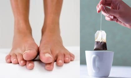 black tea foot deodorizer