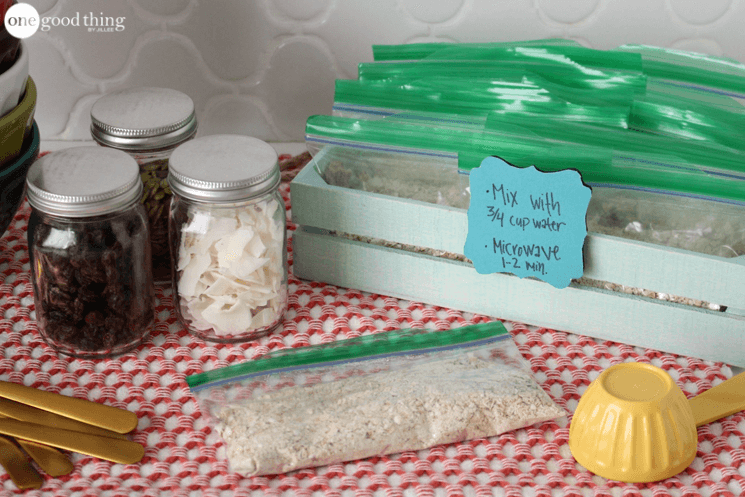 Homemade Instant Oatmeal Packets