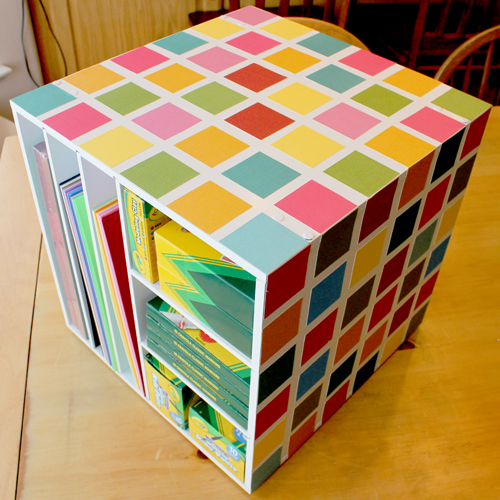 craft supplies cubby