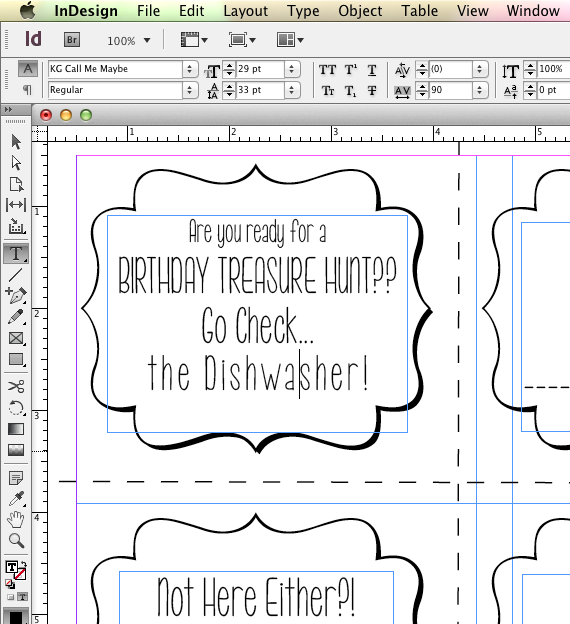 Birthday Present Treasure Hunt Free Printable