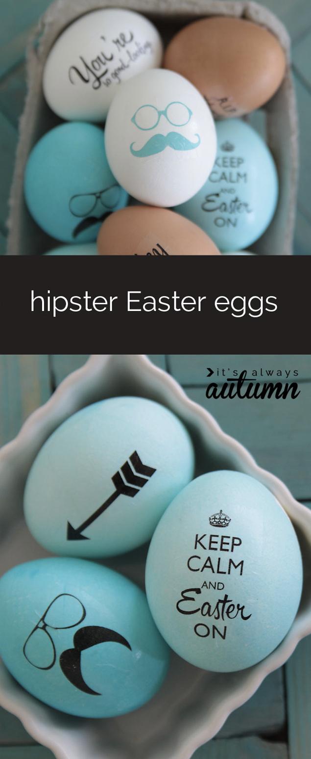 Hipster Easter Eggs