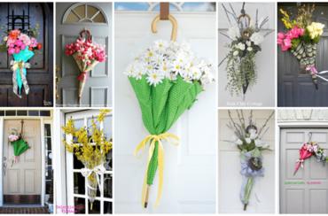 """DIY Umbrella Door """"Wreath"""""""