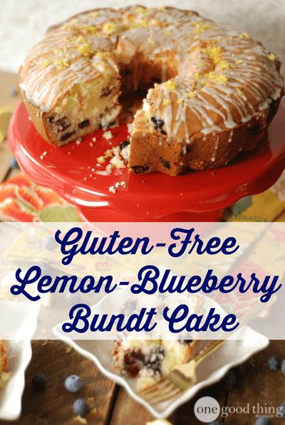 Gluten Free Lemon-Blueberry Bundt Cake