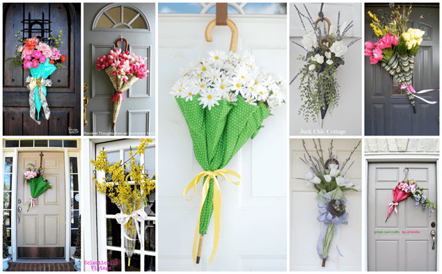"DIY Umbrella Door ""Wreath"""