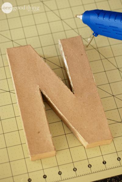 DIY Letter Bookends