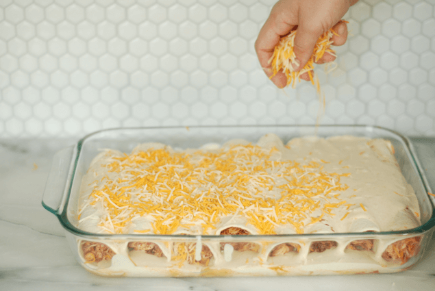 Honey Lime Chicken Enchiladas