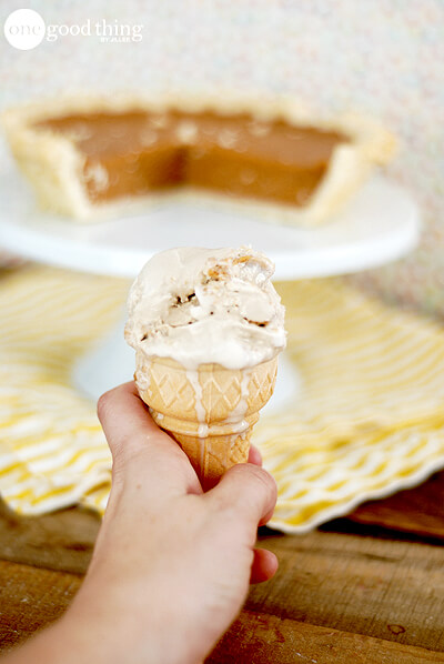 Pie a la Mode Ice cream cone
