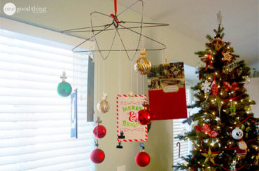 diy photo chandelier