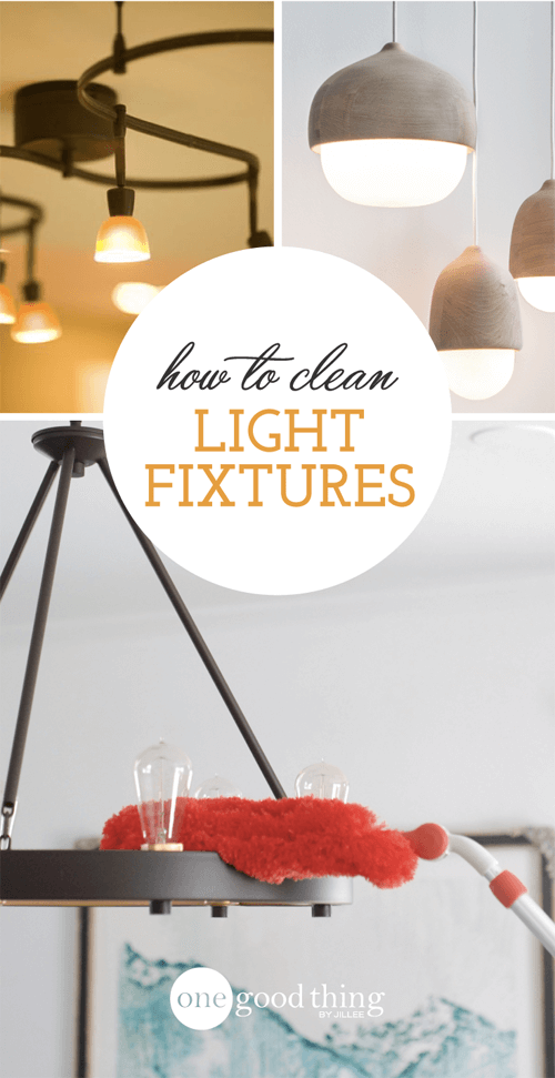 Cleaning light fixtures