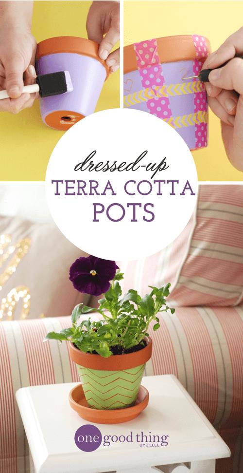Dressing Up Terra-Cotta Pots