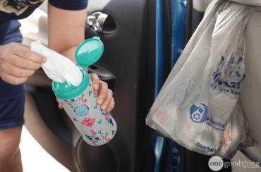 DIY Grocery Bag Storage Dispenser