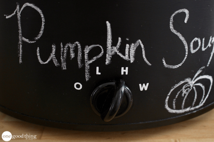 DIY Chalkboard Crockpot