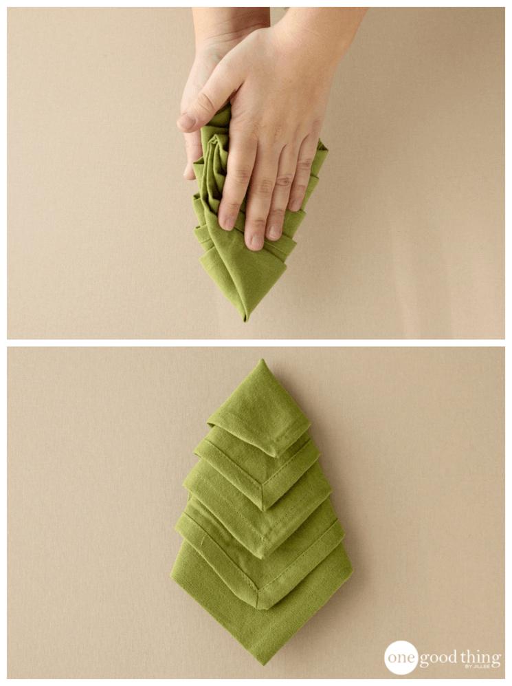 How To Make Christmas Tree Napkins