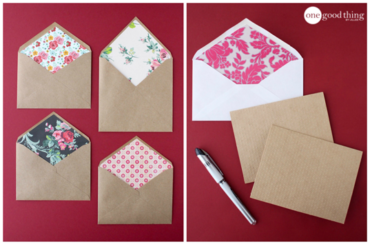 Valentine's Day Lined Envelopes