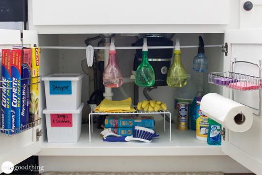 Ways To Organize Under Kitchen Sink