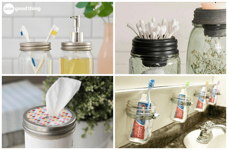 10 Ways That Mason Jars Make The Best Bathroom Storage