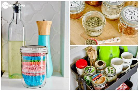 17 Mason Jar Ideas That Will Rescue Your Disorganized Kitchen