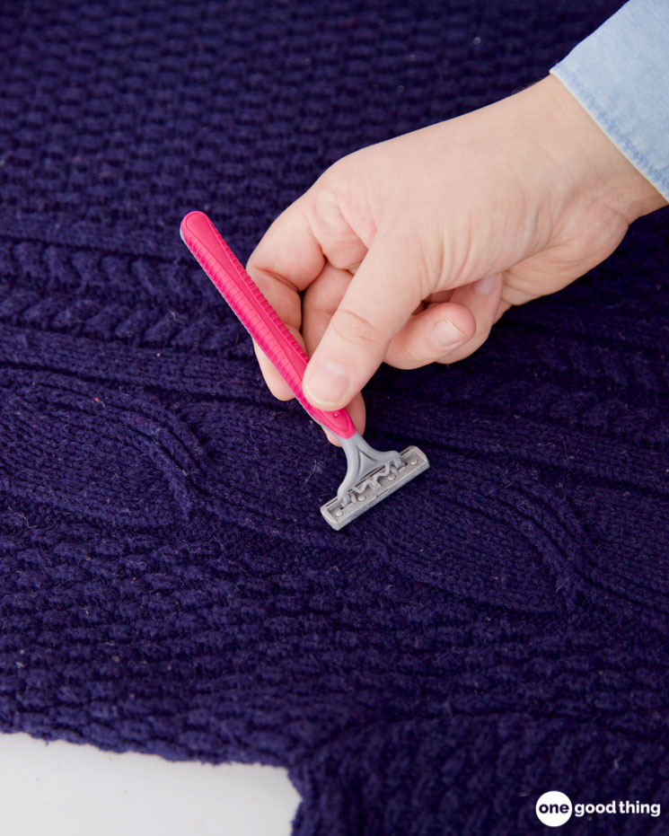Saving a sweater from pilling