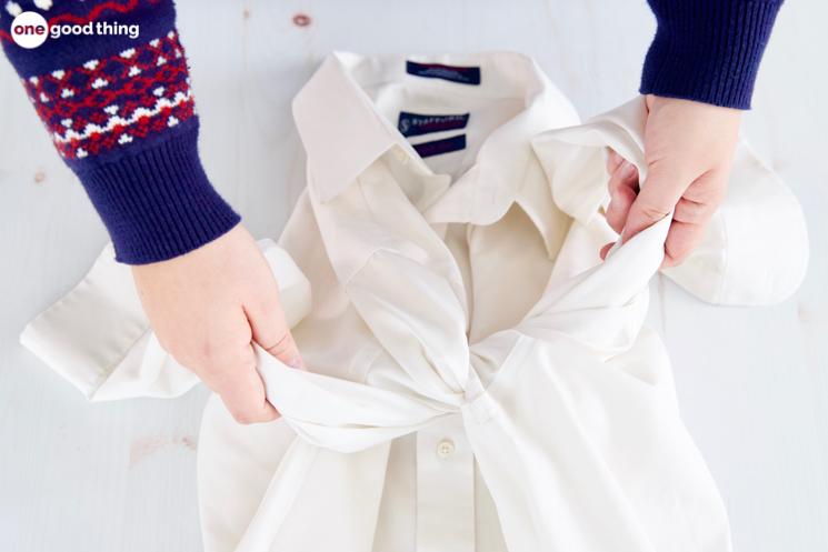 washing a dress shirt