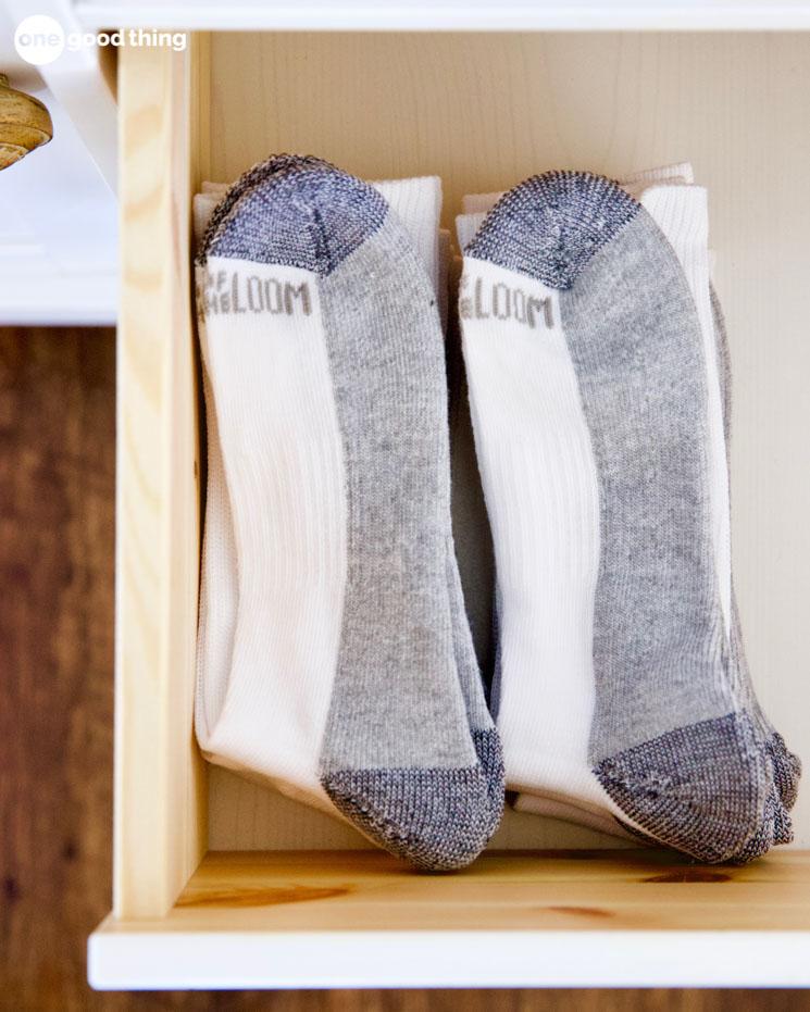 socks in a drawer