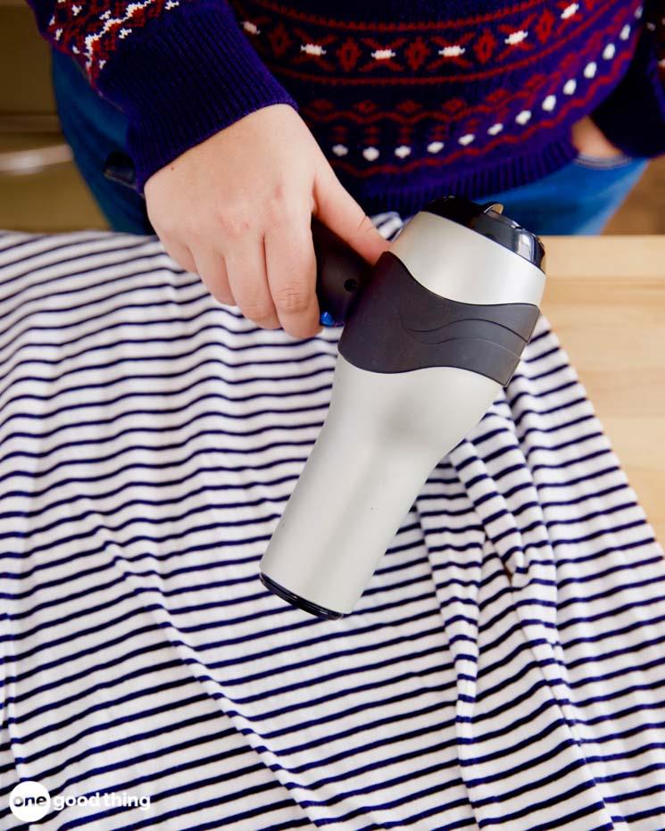 drying a shirt