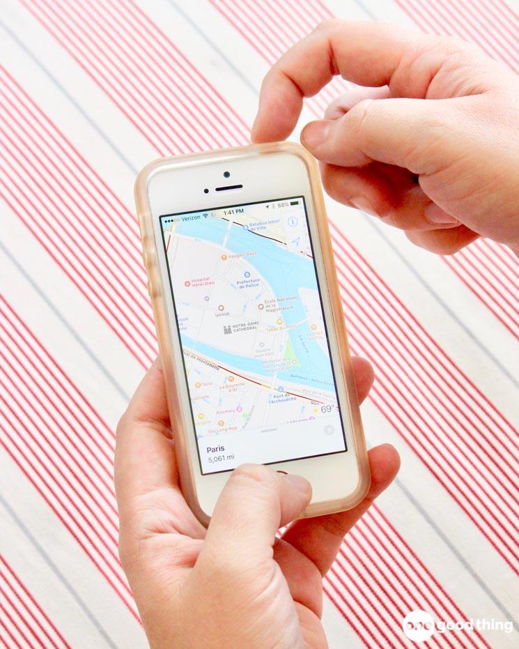 taking a screenshot of a map