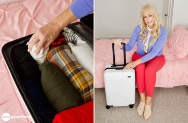 packing a suitcase