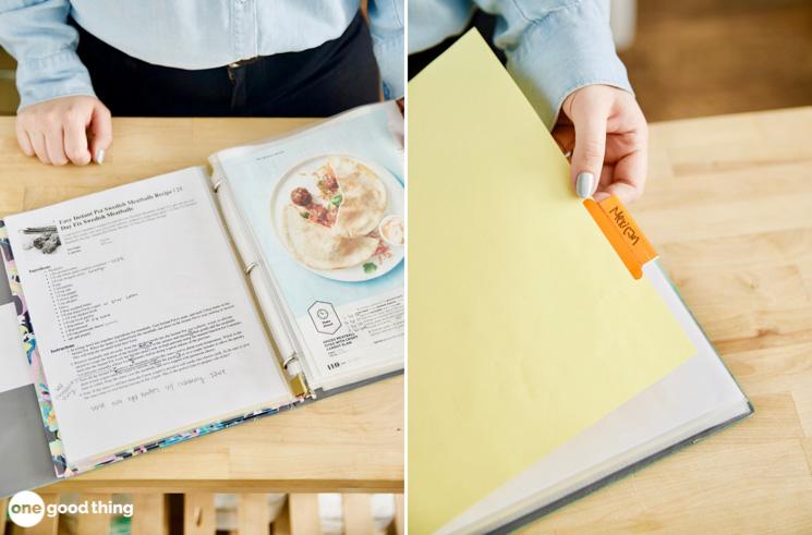organizing recipes